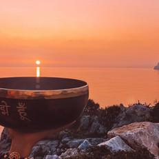 Sun charging the bowl