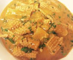 Calamars au curry rouge