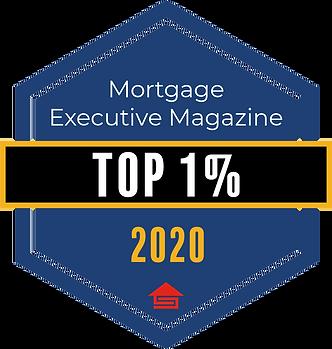 2020 Award Emblem_Top 1 Percent_Mortgage Executive Magazine.png