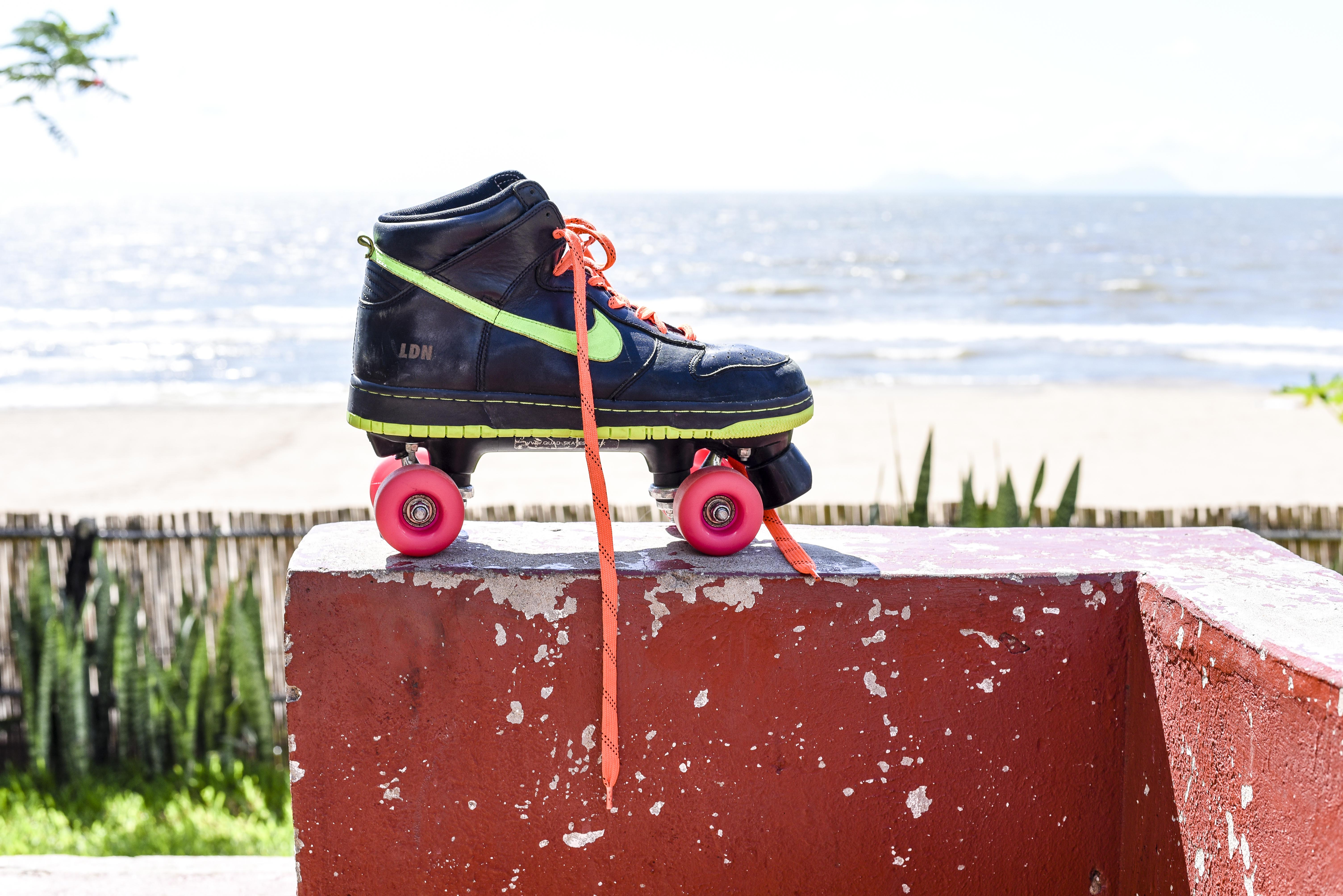 Skate by the lake.