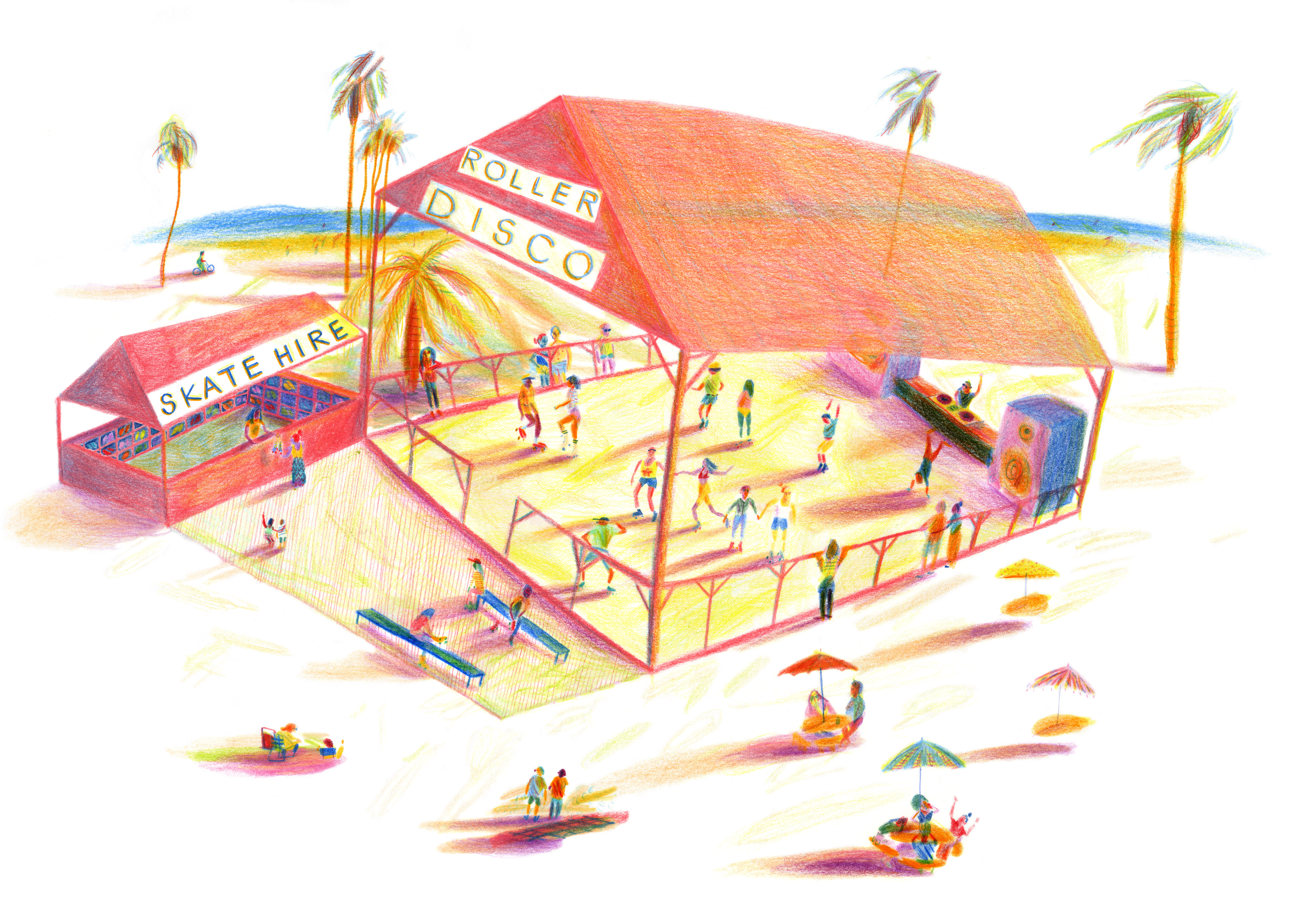 Concept drawing for Skate Malawi