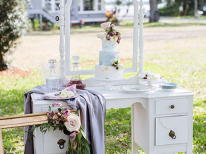 Vintage Outdoor Styled Shoot Published on Cake & Lace
