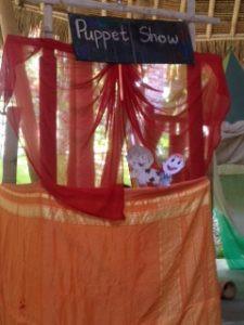 Ibu Ria's amazing puppet show in Indonesian class
