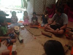 Playing gamelan with Pak Alex and Pak Aris