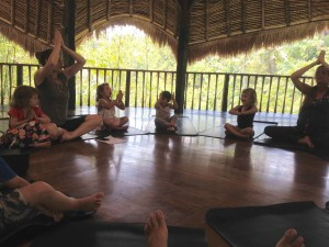 Yoga class with Ibu Erika