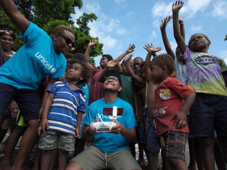 Unicef-backed Vanuatu contract award for vaccine drone delivery.