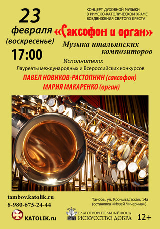 Концерт классической музыки  в феврале.