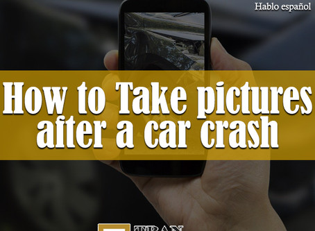 How to take pictures after a car crash