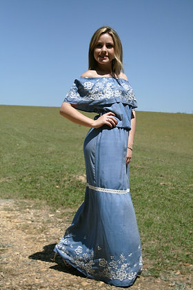 Vestido longo Gardênia