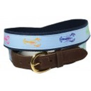 Woven Ribbon Colorful Lobster Belt