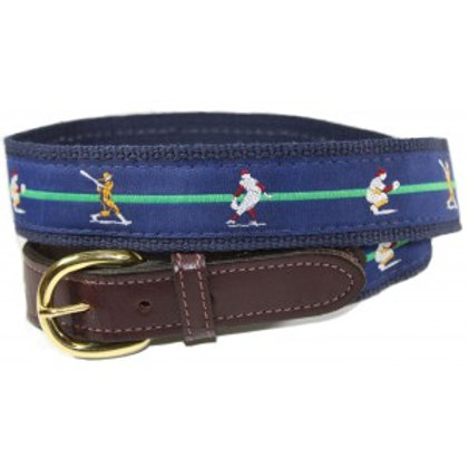 Woven Ribbon Baseball Belt