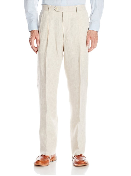 "PALM BEACH ""Original"" Natural Linen Pleated Pant"