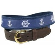 Woven Ribbon  Ship's Wheel & Anchor Belt