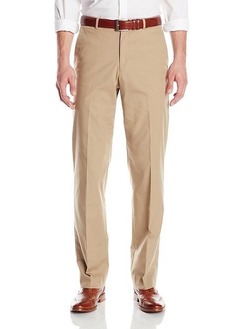 PALM BEACH Khaki Poplin Suit Separate Flat Front Pant