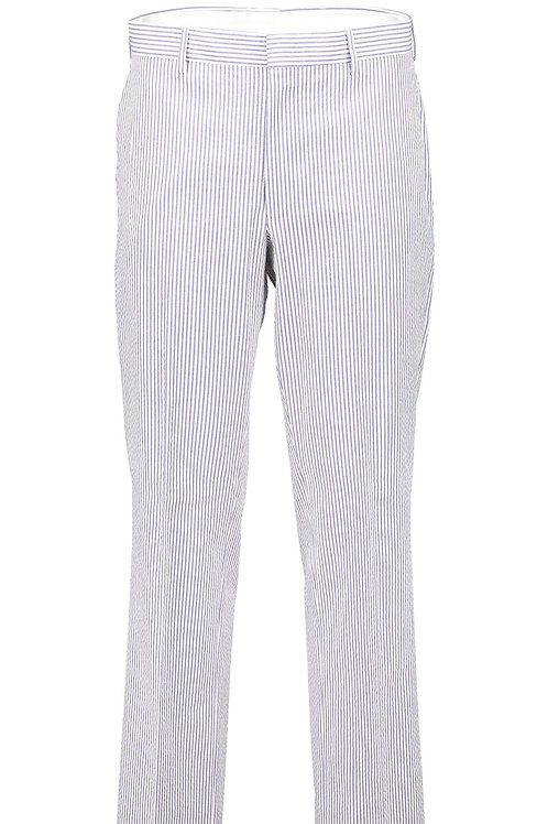 USA-Classic Seersucker Suit Separate Flat Front Pant