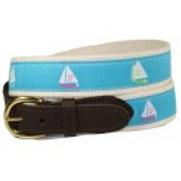 Woven Ribbon Three Sail Boat Belt
