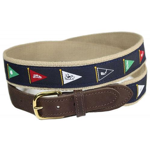 Woven Ribbon Code Flag Golf Belt