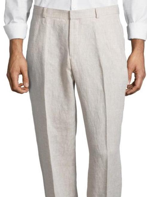 """PALM BEACH """"Original"""" Natural Linen Plain Front Pant"""