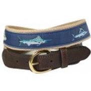 Woven Ribbon Marlin & Tuna Belt