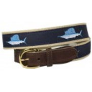Woven Ribbon Sailfish Belt