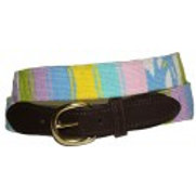 Woven Ribbon American Indian Design  Belt