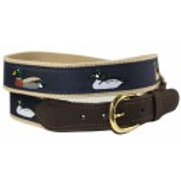 Woven Ribbon Duck Belt