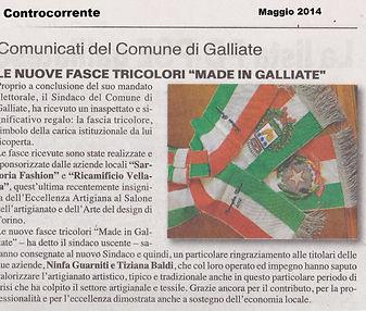 Ricamificio Vellata per il comune di Galliate (Novara)