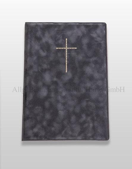 Kondolenzbuch mit Kreuz