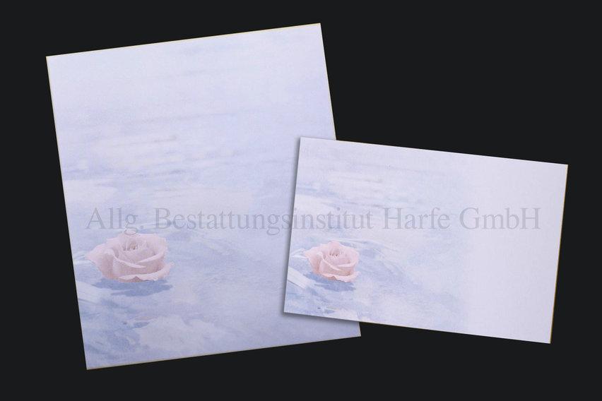Trauerdrucksachen «Rose»