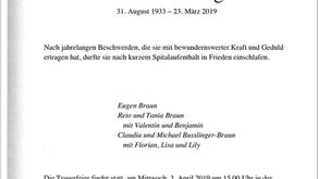 Trudi Braun-Imgrüt 31.8.1933-23.3.2019