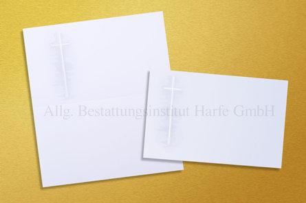 Trauerdrucksachen «Kreuz im Schatten»*