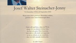 Josef Walter Steinacher-Jenny 15.12.1932-22.9.2021