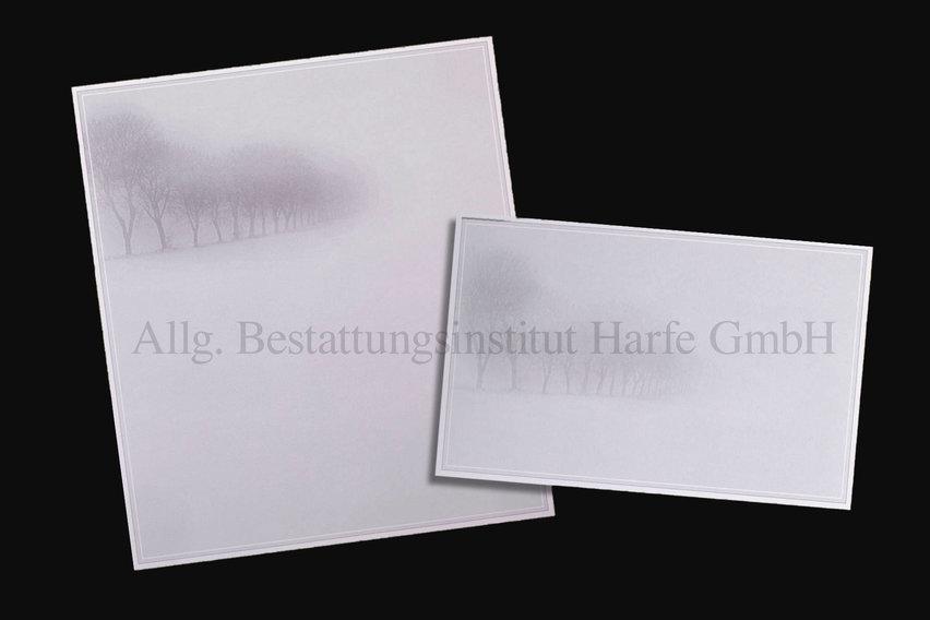 Trauerdrucksachen «Nebel»