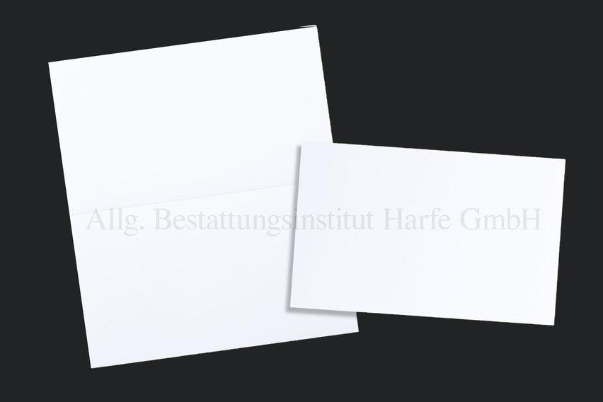 Trauerdrucksachen «Weiss»