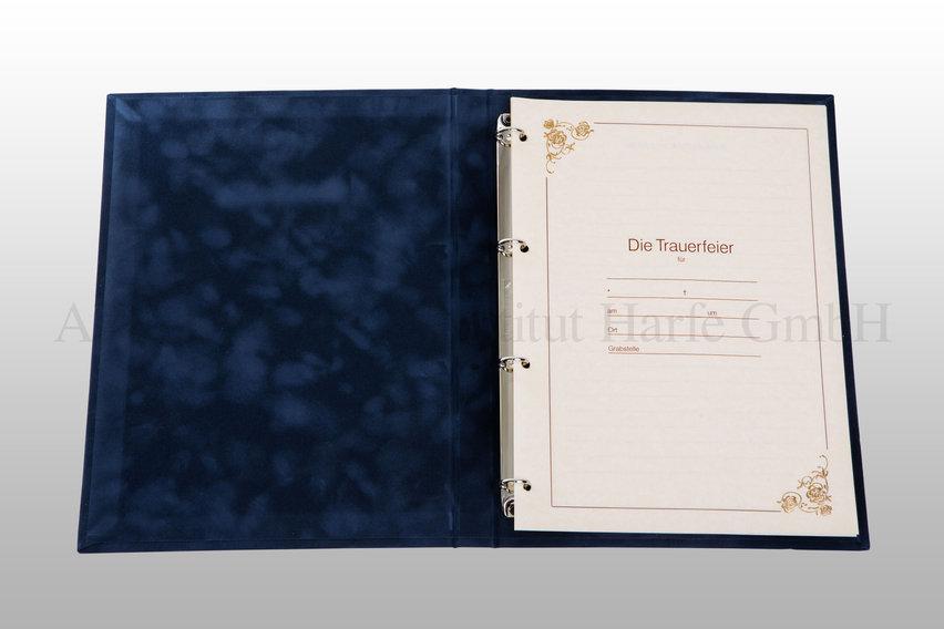 Kondolenzbuch offen