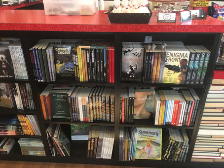 Book launches! And: The Meddler graces the shelves of Pandora's Boox & Tea!