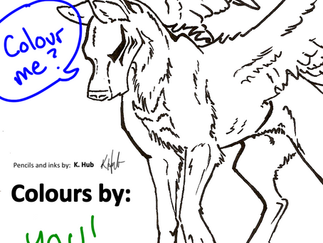 This flying wolf needs some colour!