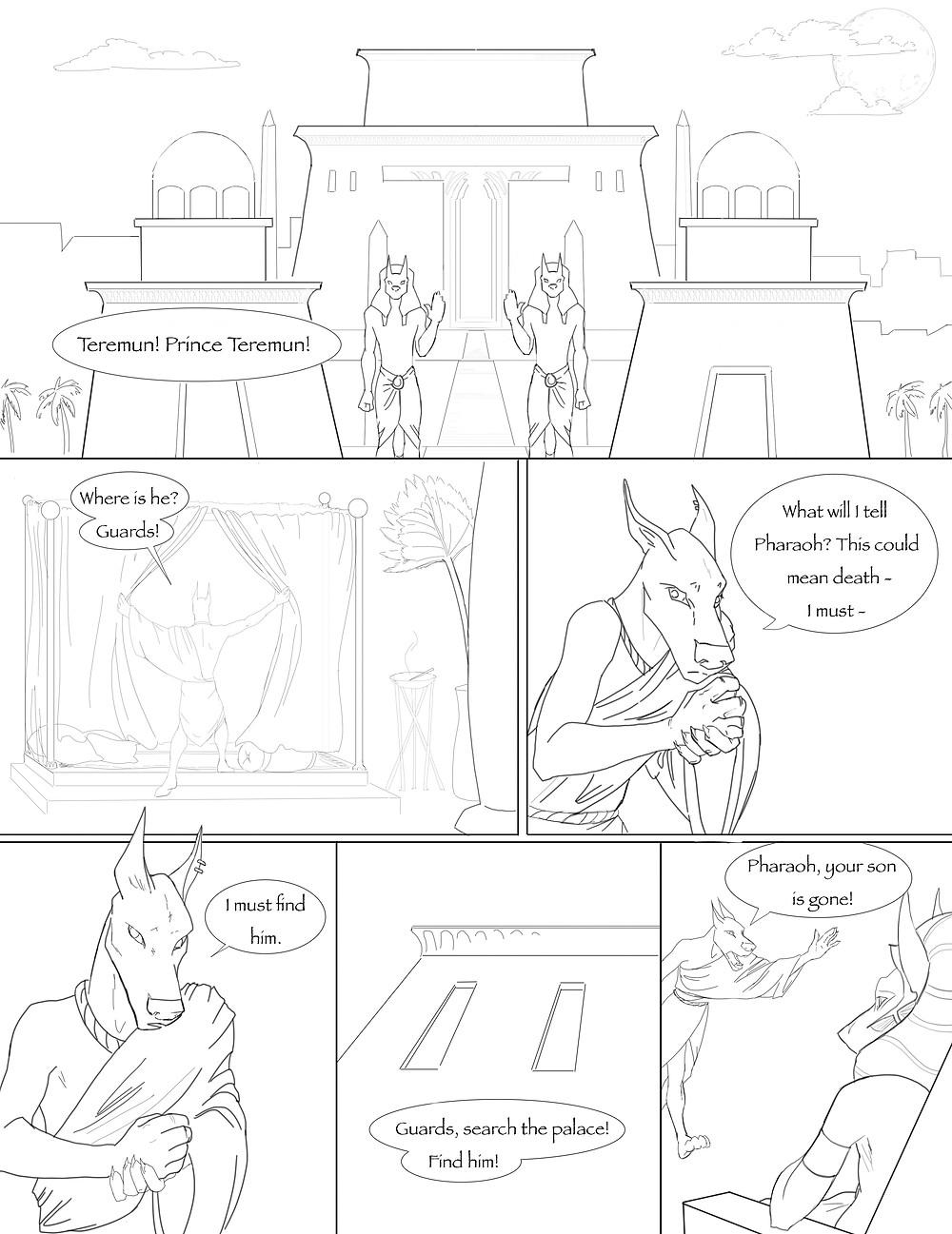 Anubis comic page 1