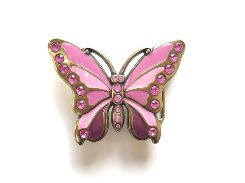 Pink Butterfly Buckle