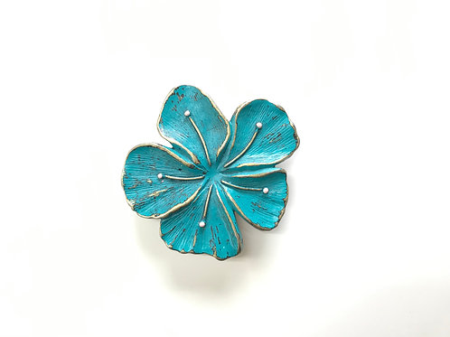 Sea Blue Flower Buckle