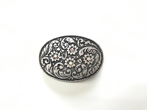 Oval Floral Buckle