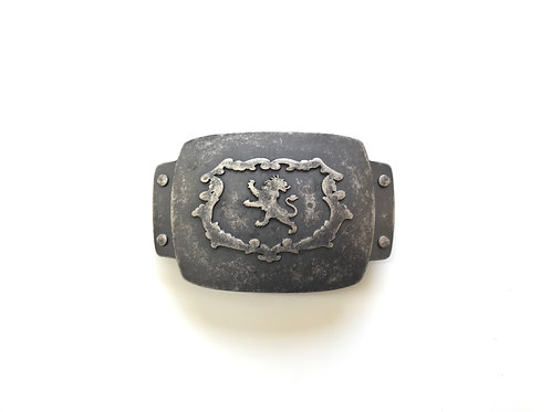 Old Silver Lion Buckle