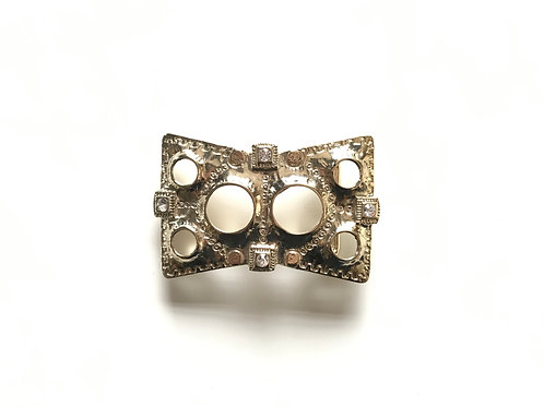 Crystals and Holes Buckle
