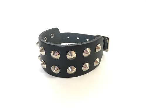 2 rows Conical Studded Wristband