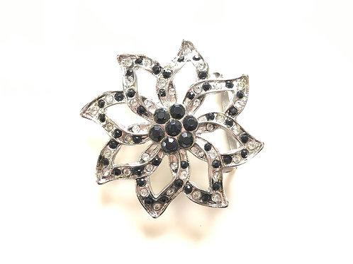 Crystal Flower Buckle
