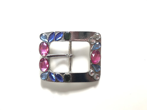 Silver with Crystals Buckle