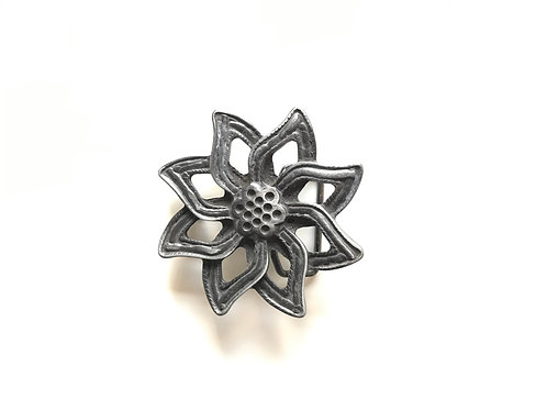 Old Silver Flower Buckle