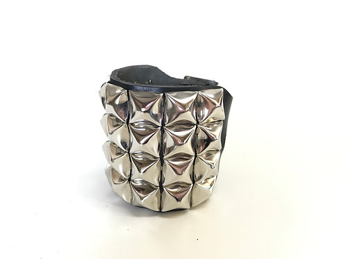 4 rows Pyramid Studded Wristband