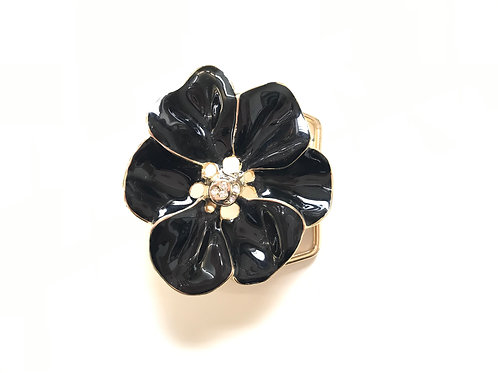 Black Flower Buckle