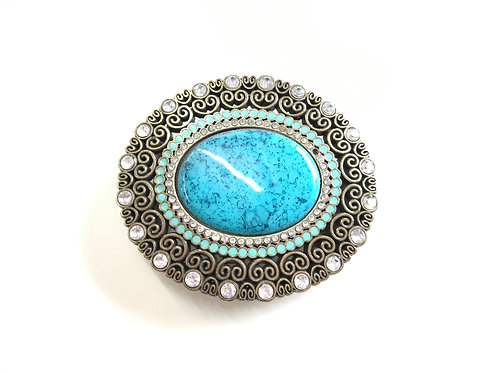 Turquoise Oval Buckle